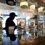 counter inside a dispensary