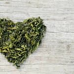 heart made of cannabis leaves