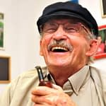 older man with pipe
